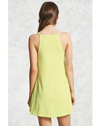 Forever 21 | Yellow Mini Shift Dress | Lyst