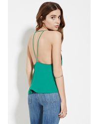 Forever 21 - Green Strappy Open-back Cami - Lyst