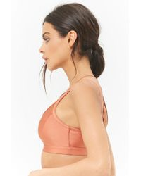 Forever 21 - Purple Medium Impact - Caged Sports Bra - Lyst