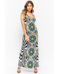 Forever 21 - Multicolor Ornate Print Maxi Dress - Lyst