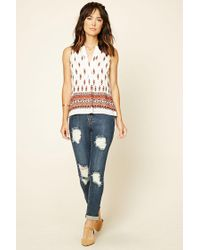 Forever 21 - Multicolor Ornate Print Woven Top - Lyst