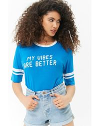 Forever 21 - Blue Vibes Graphic Tee - Lyst