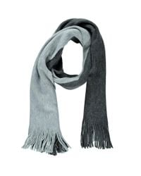 Forever 21 - Gray Colorblock Fringe Scarf - Lyst