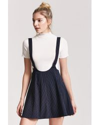 Forever 21 - Blue Pinstripe Overall Dress - Lyst