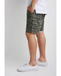 Forever 21 - Black Camo Print Shorts for Men - Lyst