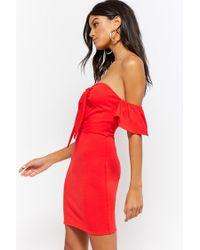 Forever 21 - Red Women's Sweetheart Bodycon Dress - Lyst