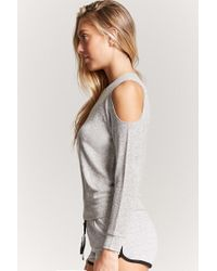 Forever 21 - Gray Open-shoulder Pyjama Top - Lyst