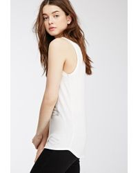 Forever 21 - Natural Toujours Graphic Tank - Lyst