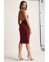 Forever 21 - Red Tie-front Bodycon Dress - Lyst