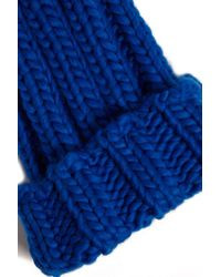 Forever 21 - Blue Chunky Ribbed Knit Beanie - Lyst