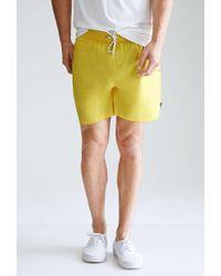 Forever 21 - Yellow Rope-drawstring Swim Trunks for Men - Lyst
