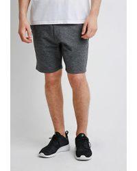 Forever 21 - Black Heathered Zip Pocket Sweatshorts for Men - Lyst