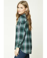 Forever 21 - Green Buffalo Check Flannel Shirt - Lyst