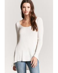 FOREVER21 - White High-low Swing Top - Lyst
