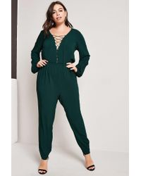Forever 21 - Green Plus Size Drapey Jumpsuit - Lyst