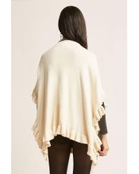Forever 21 - White Open-front Ruffle Cardigan - Lyst