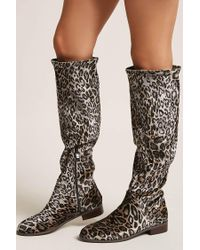 Forever 21 - Brown Very Volatile Leopard Print Over-the-knee Boots - Lyst