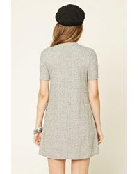 Forever 21 - Gray Marled Knit Shift Dress - Lyst