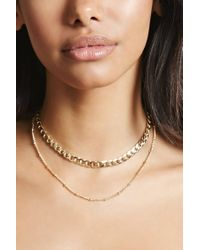 Forever 21 - Metallic Layered Chain Choker - Lyst