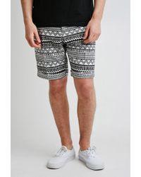 Forever 21 | Black Pattern Trouser Shorts for Men | Lyst