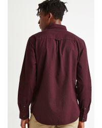 Forever 21 - Purple Textured Woven Pocket Shirt for Men - Lyst