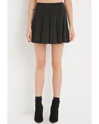 Forever 21 - Black Fluted Skirt - Lyst