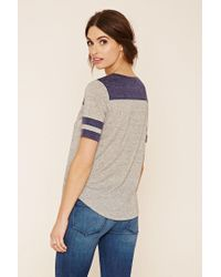 Forever 21 - Gray Contemporary Striped Top - Lyst
