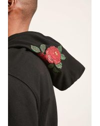 Forever 21 Black Reason Rose Patch Hoodie for men