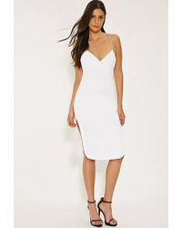 Forever 21 - White Mlm Cami Side Slit Dress - Lyst