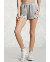 Forever 21 - Gray Faux Suede Shorts - Lyst