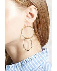 Forever 21 - Metallic Geo Cutout Drop Earrings - Lyst