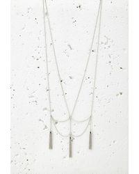 Forever 21 - Metallic Drapey Chain Tassel Necklace - Lyst