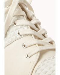 Forever 21 - White Total Stud Wedge Sneakers - Lyst