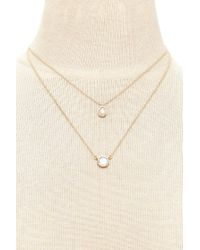 Forever 21 - Metallic Layered Iridescent Necklace Set - Lyst