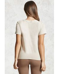 Forever 21 - Multicolor Lace-up Mineral Wash Tee - Lyst