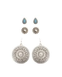 Forever 21 - Multicolor Ornate Earring Set - Lyst