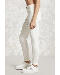Forever 21 - White Skinny Ankle Jeans - Lyst
