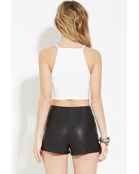 Forever 21 | White Crochet Cropped Cami | Lyst