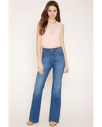 Forever 21 - Pink Crochet-front Top - Lyst