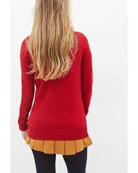 Forever 21   Red Deep V-neck Sweater   Lyst