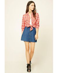 Forever 21 - Multicolor Snap-button Check Shirt - Lyst