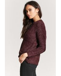 Forever 21 - Multicolor Ribbed Fuzzy Knit Sweater - Lyst