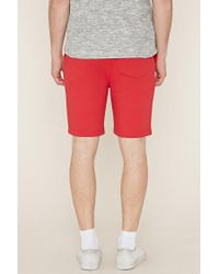 Forever 21 - Red Drawstring Fleece Shorts for Men - Lyst