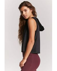 Forever 21 - Black Active Get Fit Hooded Tank Top - Lyst