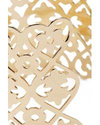 Forever 21 - Metallic Heart & Flower Cutout Cuff Bracelet - Lyst