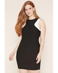 Forever 21 Black Plus Size Ribbed Bodycon Dress