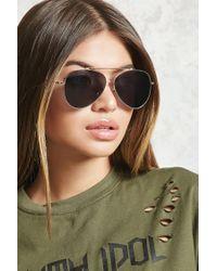 Forever 21 - Gray Classic Aviator Sunglasses - Lyst