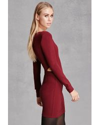 Forever 21 - Red Selfie Leslie Cutout Mini Dress - Lyst
