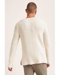 Forever 21 - Natural Waffle Knit Sweater for Men - Lyst