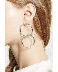 Forever 21 - Metallic Geo Cutout Drop Earrings - Lyst